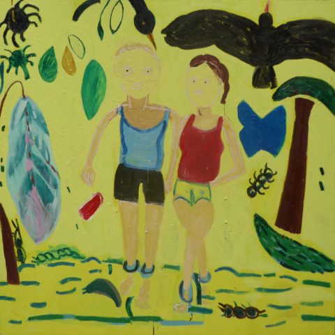 Another Walk in the Rain Forest – painting by Georgia Hayes