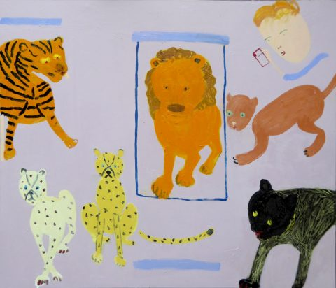 Big Cats in Brussels – painting by Georgia Hayes
