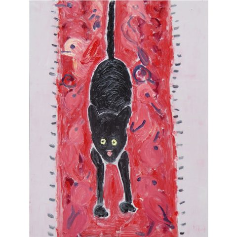 Cat on the Mat – painting by Georgia Hayes