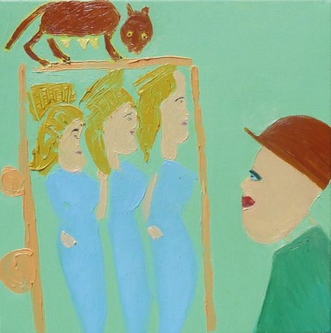 Looking at Three Fates – painting by Georgia Hayes