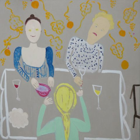Lunching with Clairvoyants – painting by Georgia Hayes