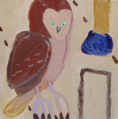 Owl on the Edge – painting by Georgia Hayes