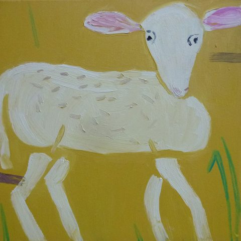 Easter Lamb – painting by Georgia Hayes