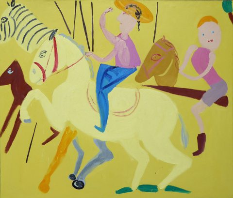 Once in the Saddle – painting by Georgia Hayes