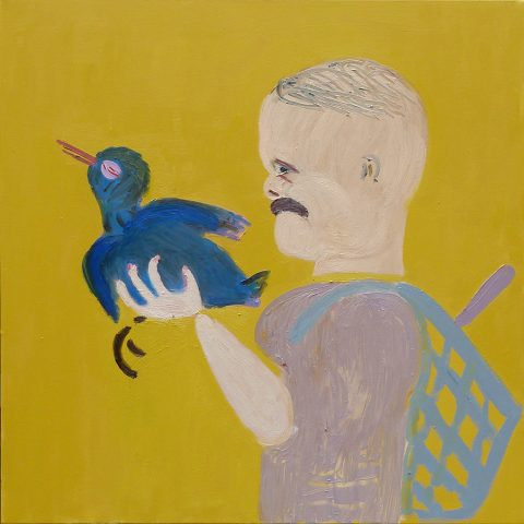 Birdcatcher – painting by Georgia Hayes