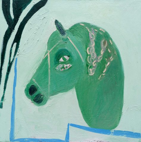 Horse with Plaited Mane– painting by Georgia Hayes