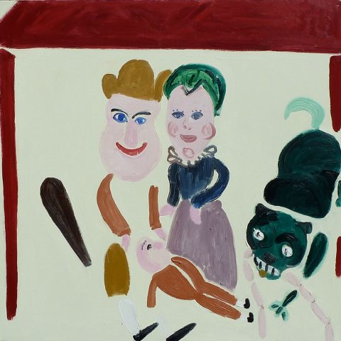 Punch and Judy in the Museum – painting by Georgia Hayes