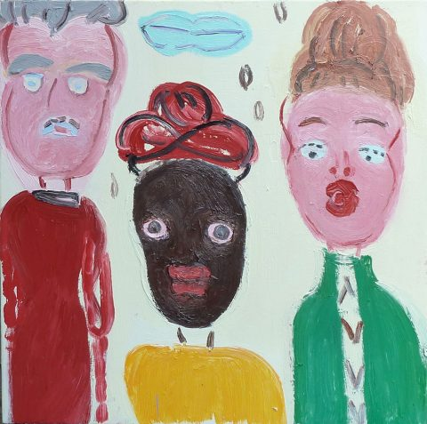 Three Heads – painting by Georgia Hayes