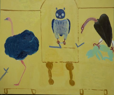 Birds in the Museum – painting by Georgia Hayes