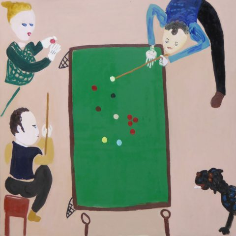 Playing Snooker – painting by Georgia Hayes