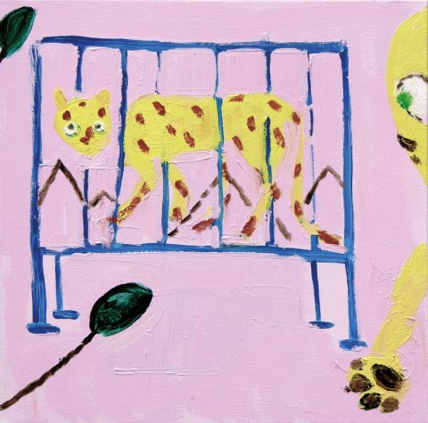 Caging a Cat – painting by Georgia Hayes