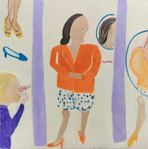 Trying it On – painting by Georgia Hayes