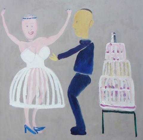 Wedding Cake – painting by Georgia Hayes